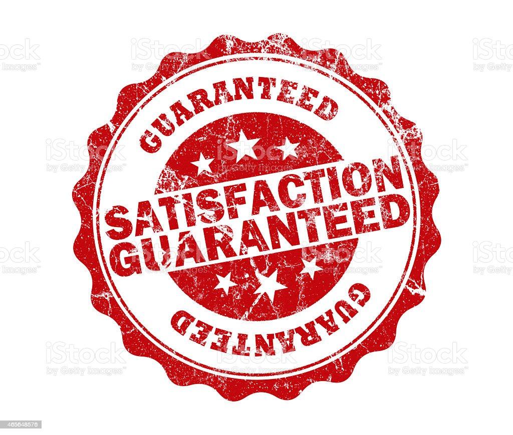 satisfaction guaranteed stamp stock photo