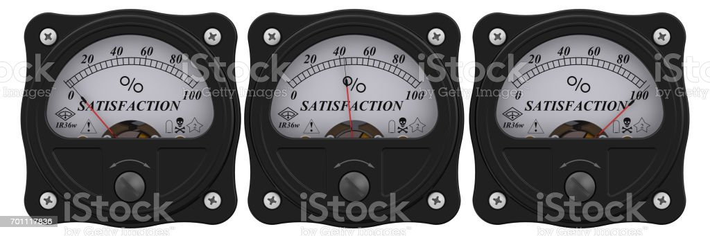 Satisfaction indicator stock photo