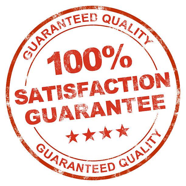 100% Satisfaction stock photo