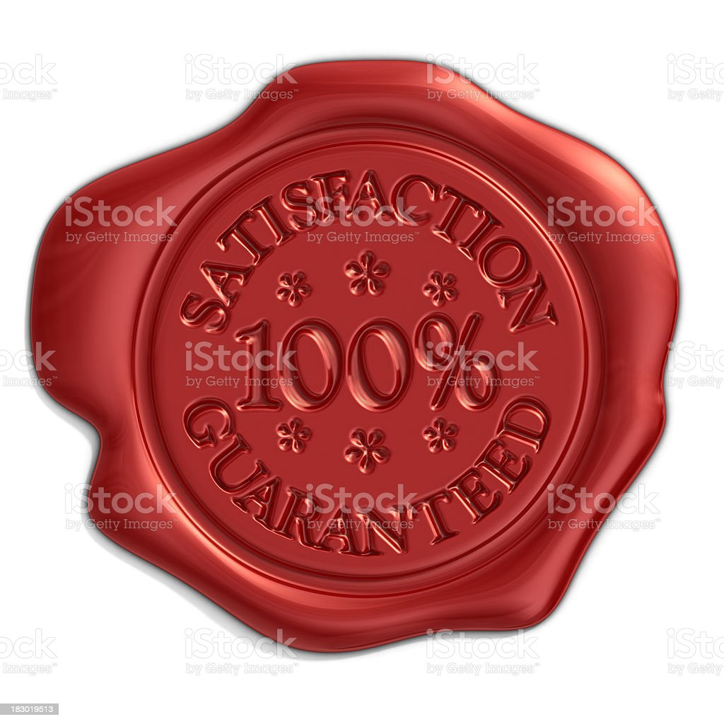 satisfaction seal stock photo