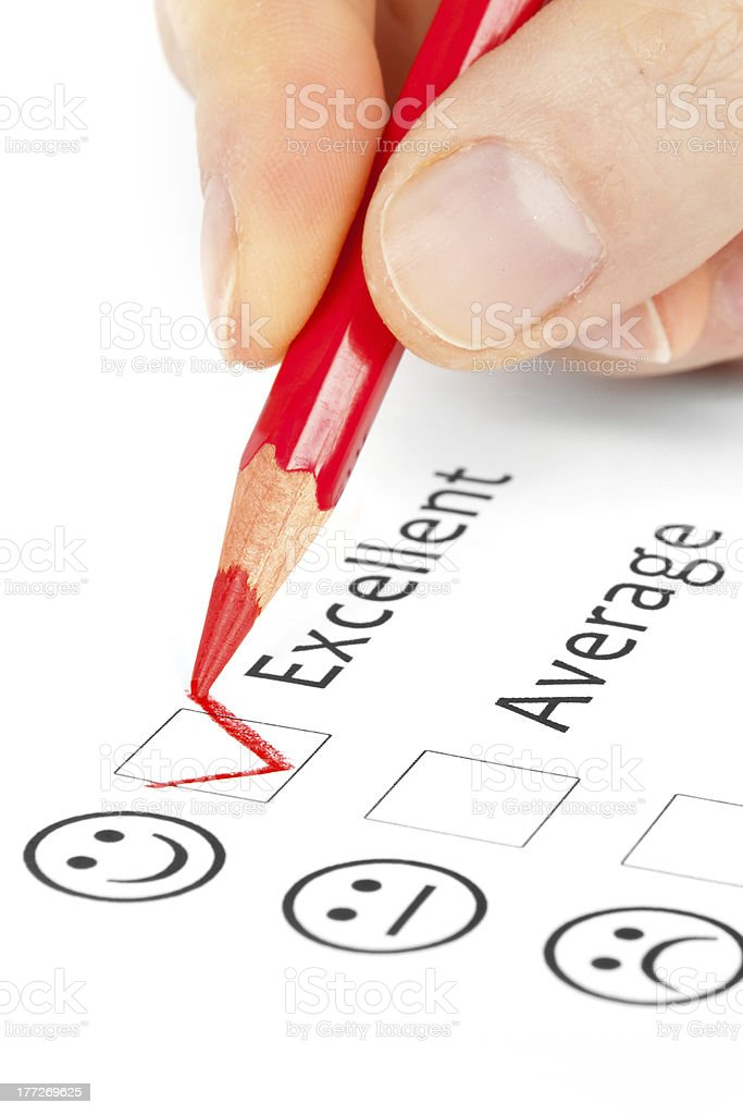 satisfaction survey royalty-free stock photo