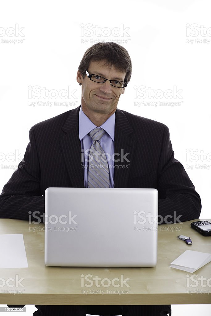 Satisfied Business Employee royalty-free stock photo