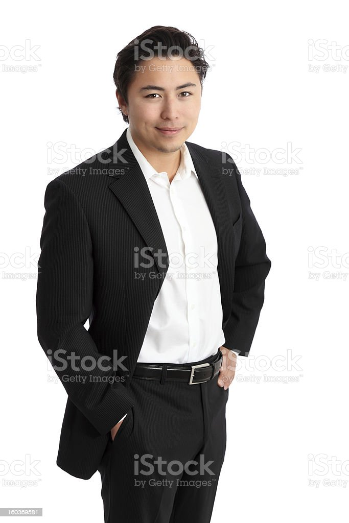 Satisfied businessman royalty-free stock photo