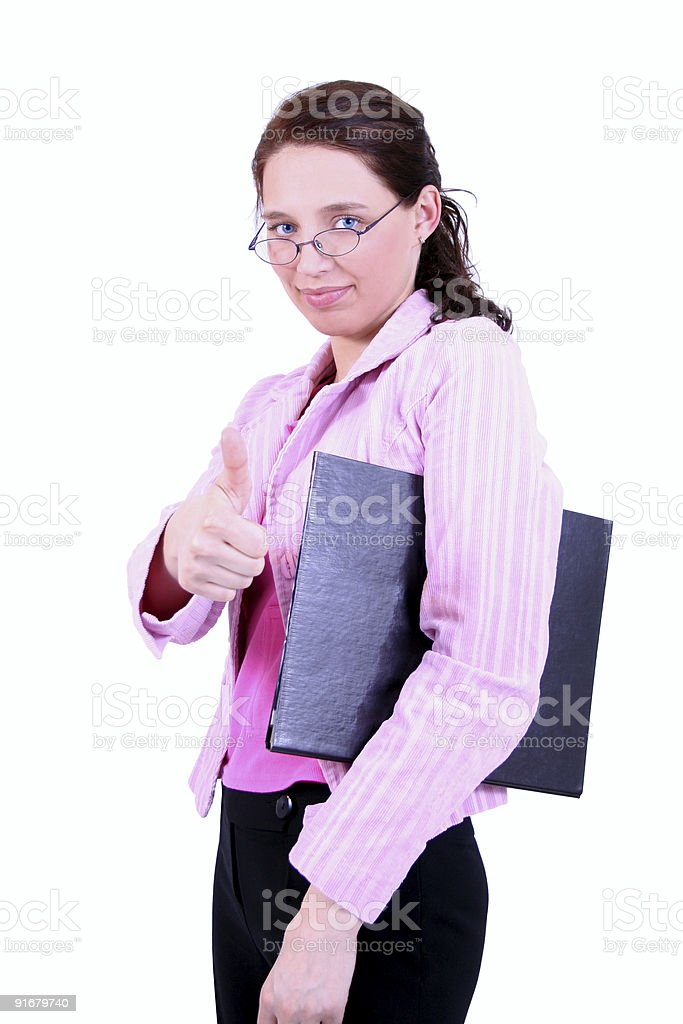 Satisfied businesswoman royalty-free stock photo