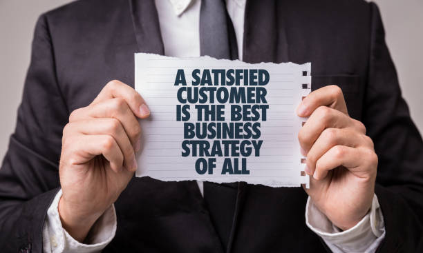 a satisfied customer is the best business strategy of all - testimonial stock photos and pictures