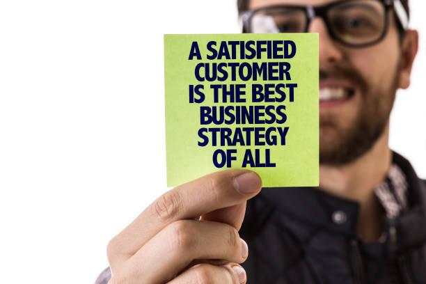 Un client satisfait est la meilleure stratégie d'entreprise de tous - Photo