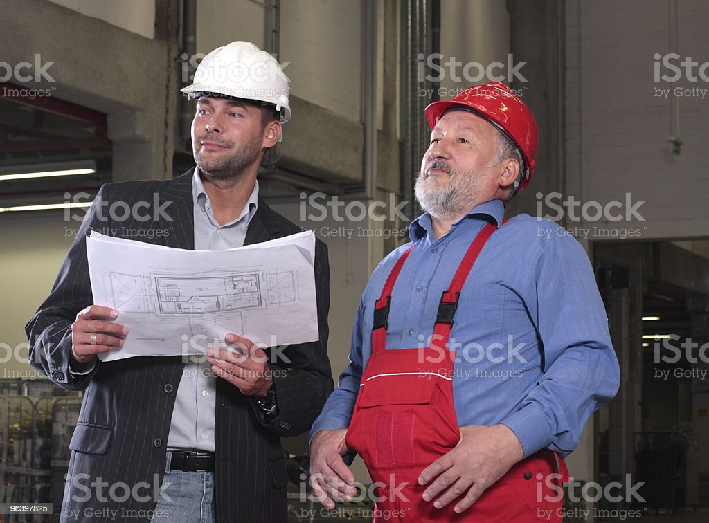 Satisfied inspector and supervisor royalty-free stock photo