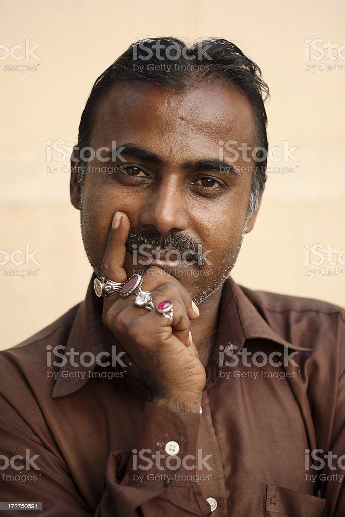 Satisfied Man royalty-free stock photo