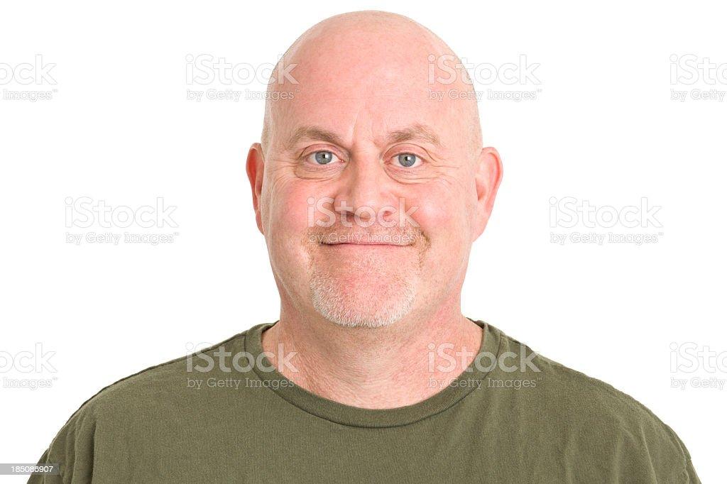 Satisfied Mature Man Portrait royalty-free stock photo