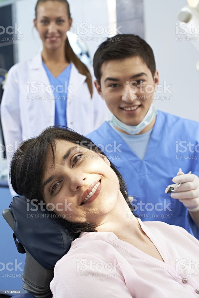Satisfied patient royalty-free stock photo