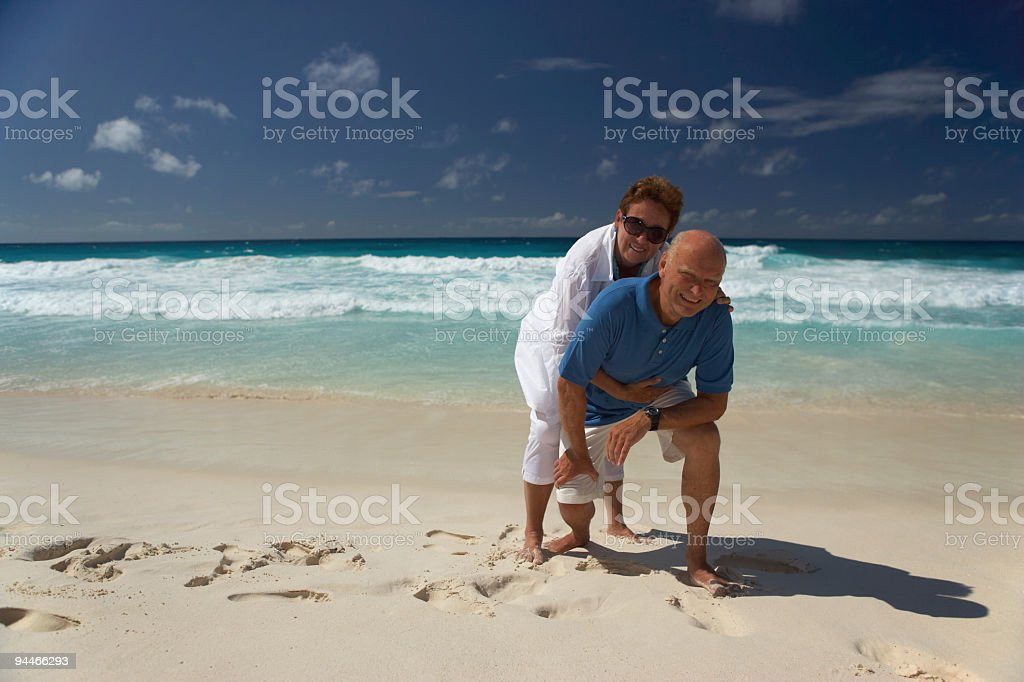 satisfied senior couple royalty-free stock photo