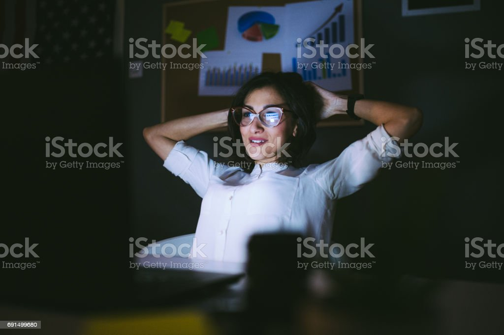 Satisfied With The Job Success stock photo