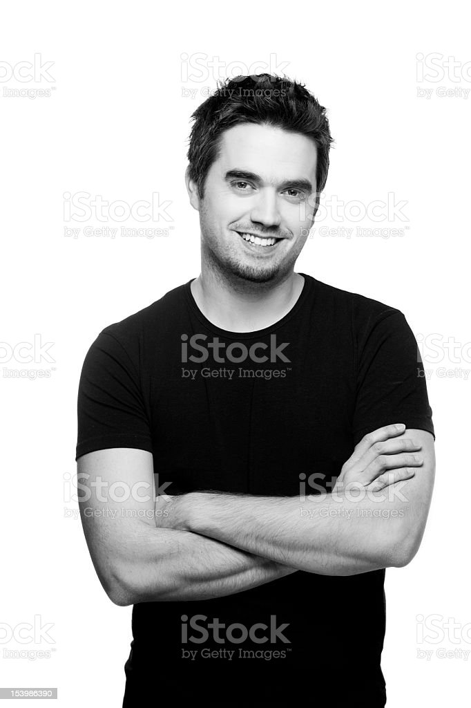 Satisfied Young Man stock photo