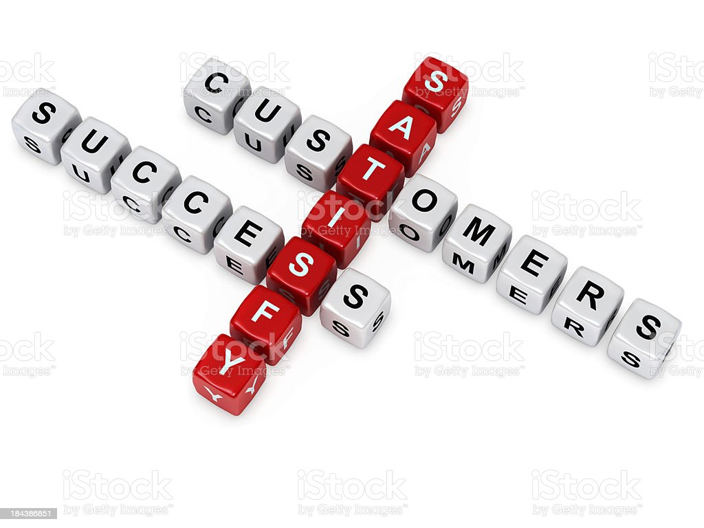 satisfy customers and success crosswords stock photo