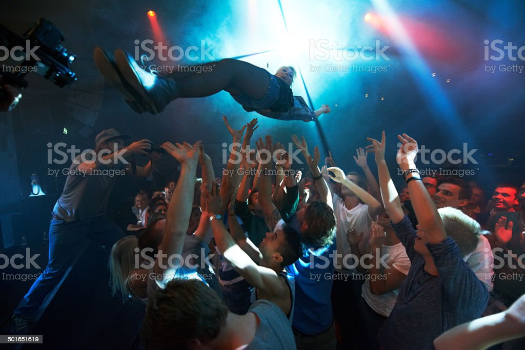 Satisfying their fans with the sound of music stock photo