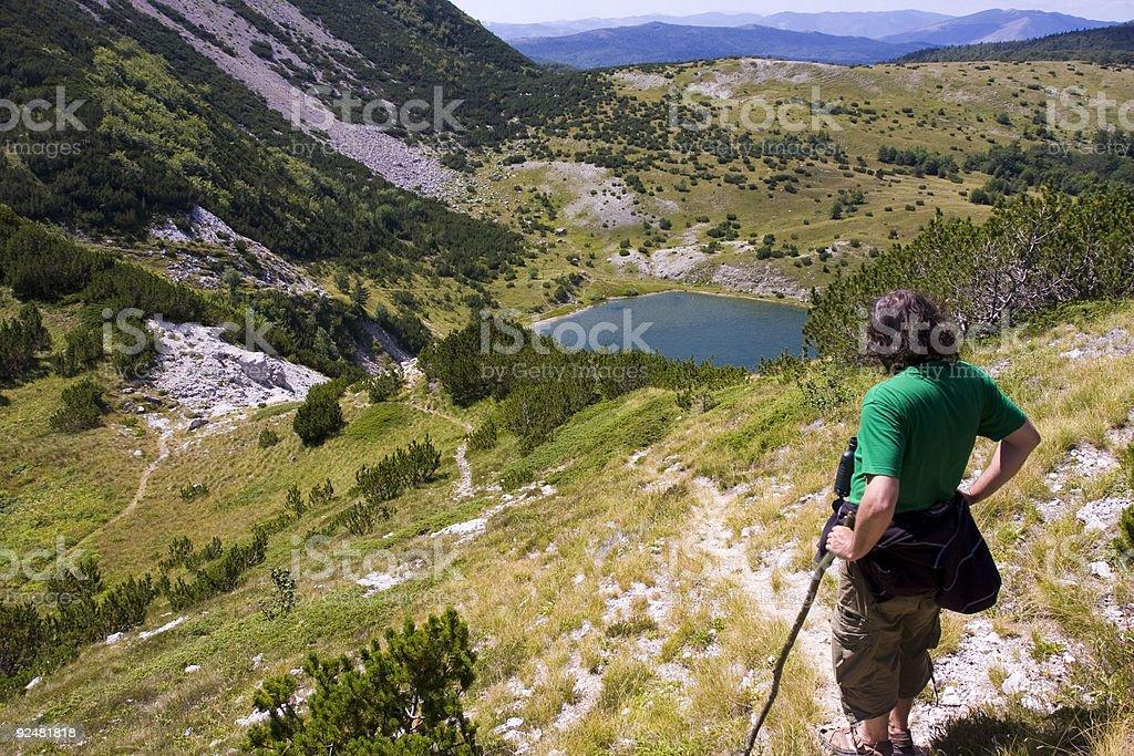 Satorsko lake - in the western regions of Bosnia royalty-free stock photo