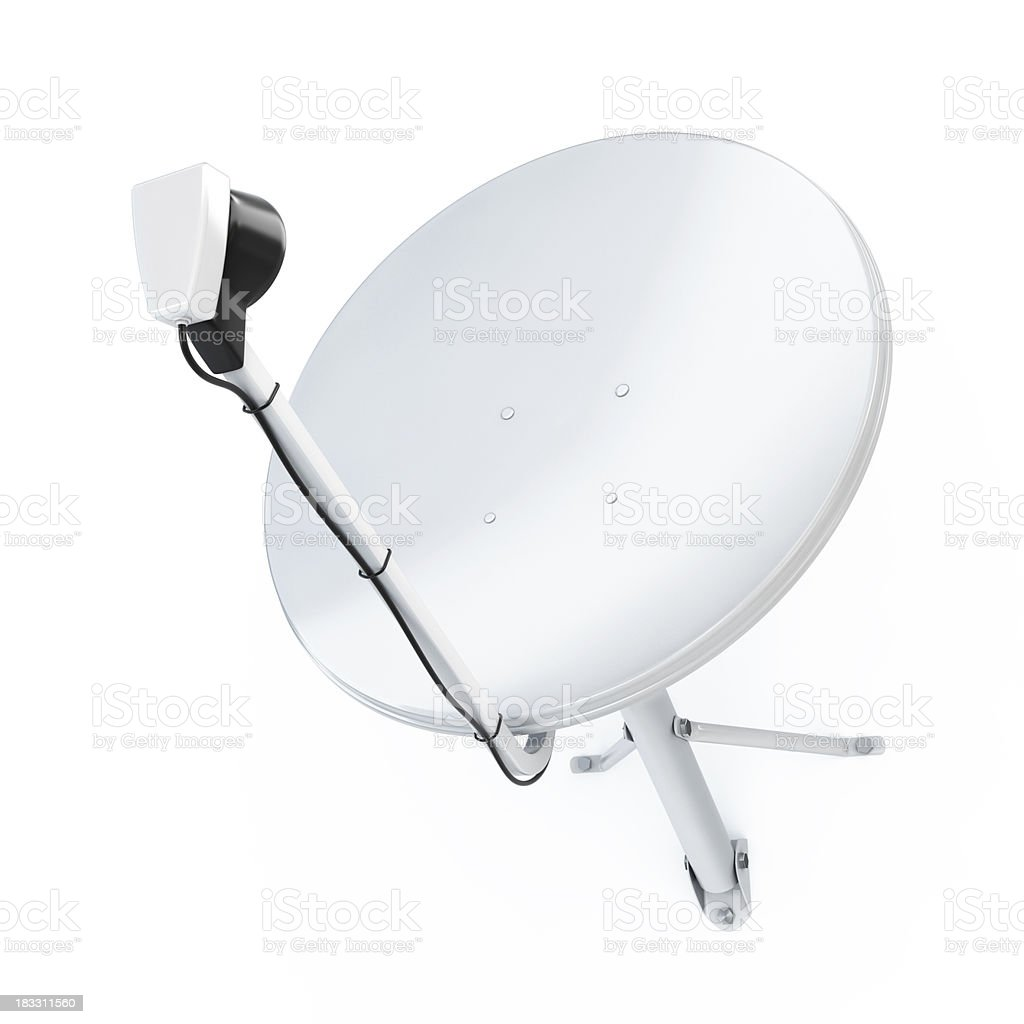 Sattelite dish stock photo