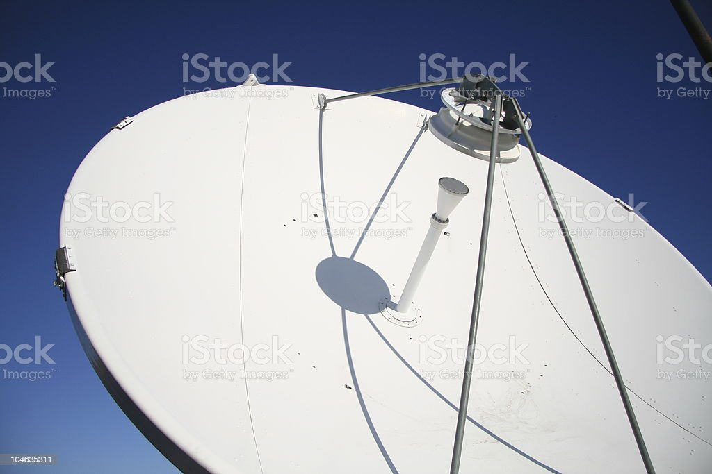 Sattelite dish pointing north royalty-free stock photo
