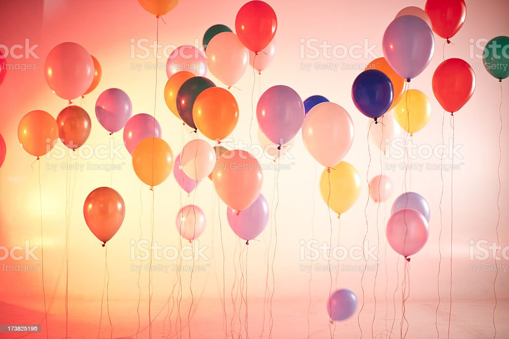 saturated ballons stock photo