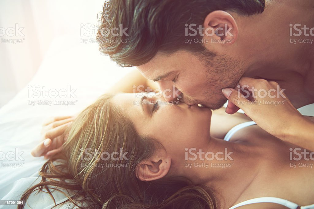 Saturday morning seduction stock photo