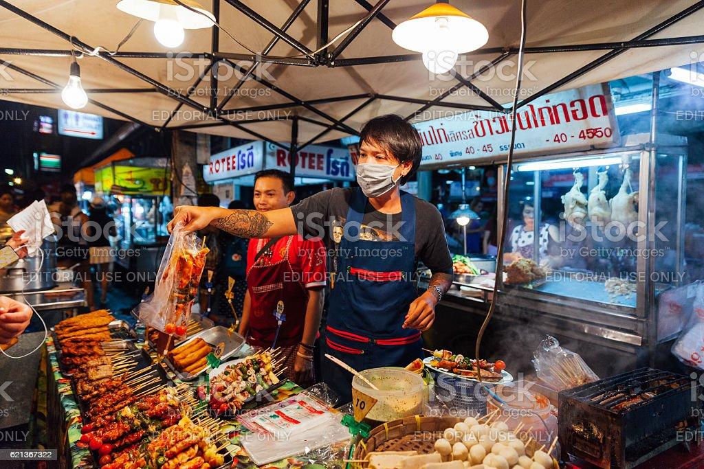 Saturday Night Market, Chiang Mai, Thailand royalty-free stock photo