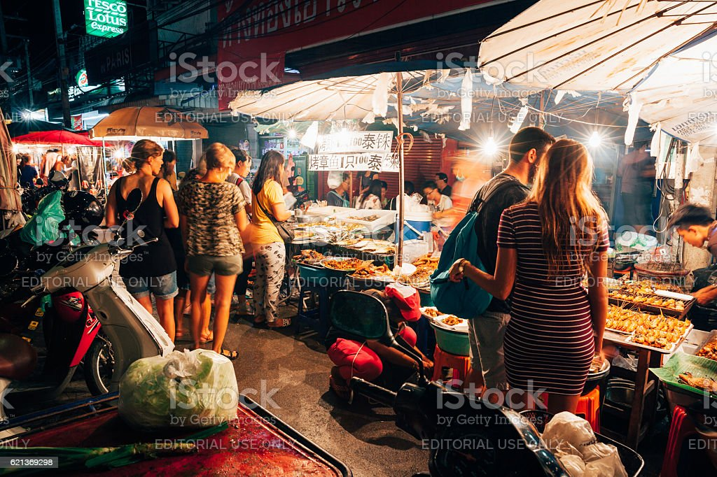 Saturday Night Market, Chiang Mai, Thailand stock photo