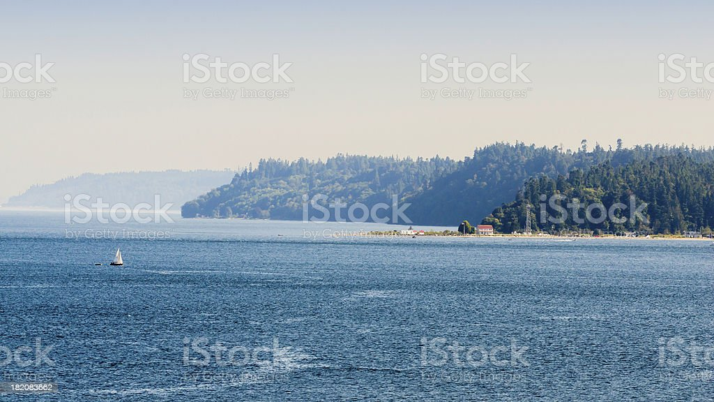 Saturday On The Seattle Bay royalty-free stock photo