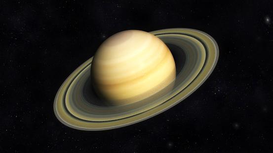 Digital Illustration of Planet Saturn