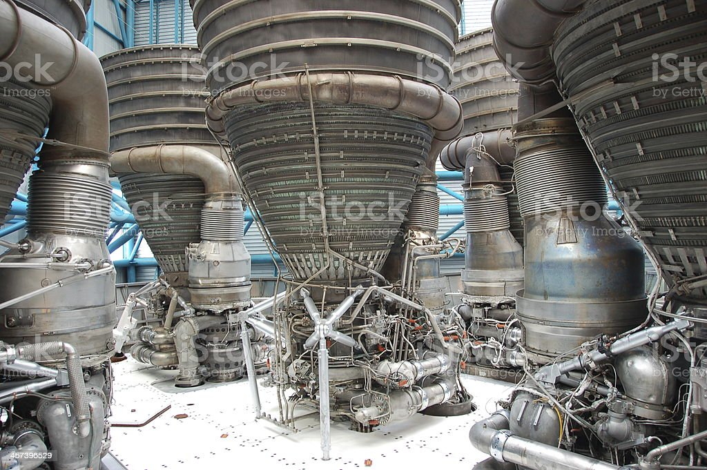Saturn V – Engines stock photo