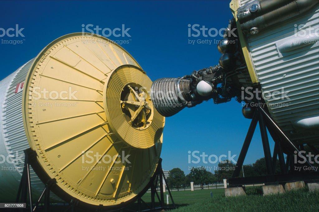 Saturn V Rocket Detail stock photo