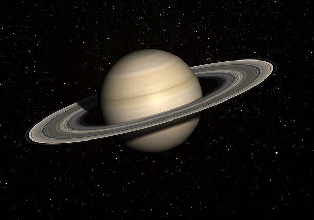 Saturn mit stars im Hintergrund. – Foto