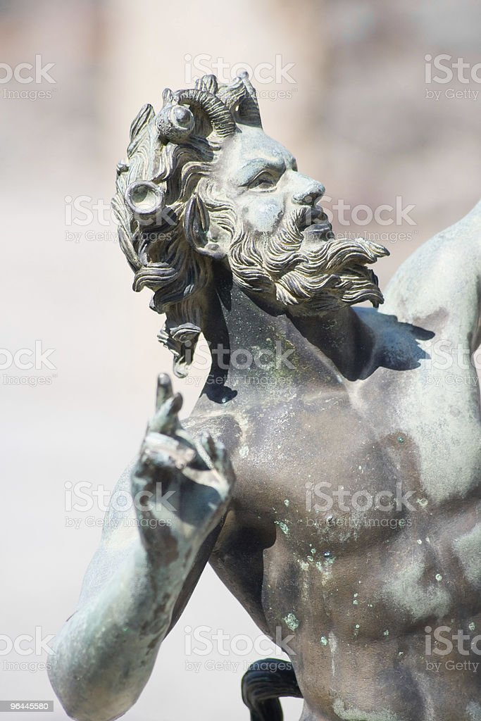 Satyr statue close-up royalty-free stock photo