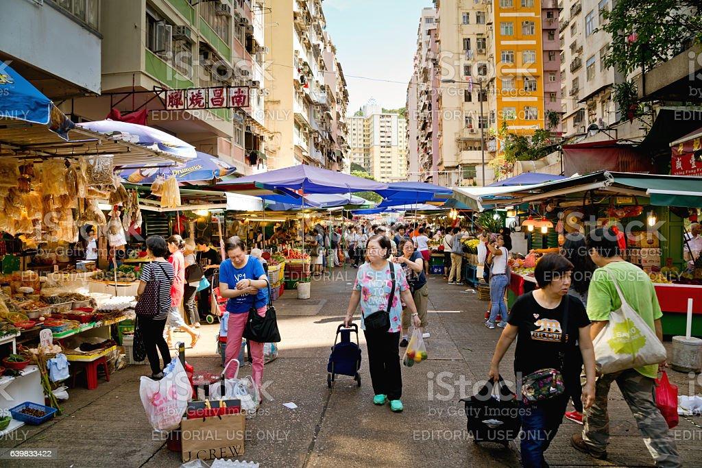 Sau Kei Wan Market in Hong Kong, China stock photo