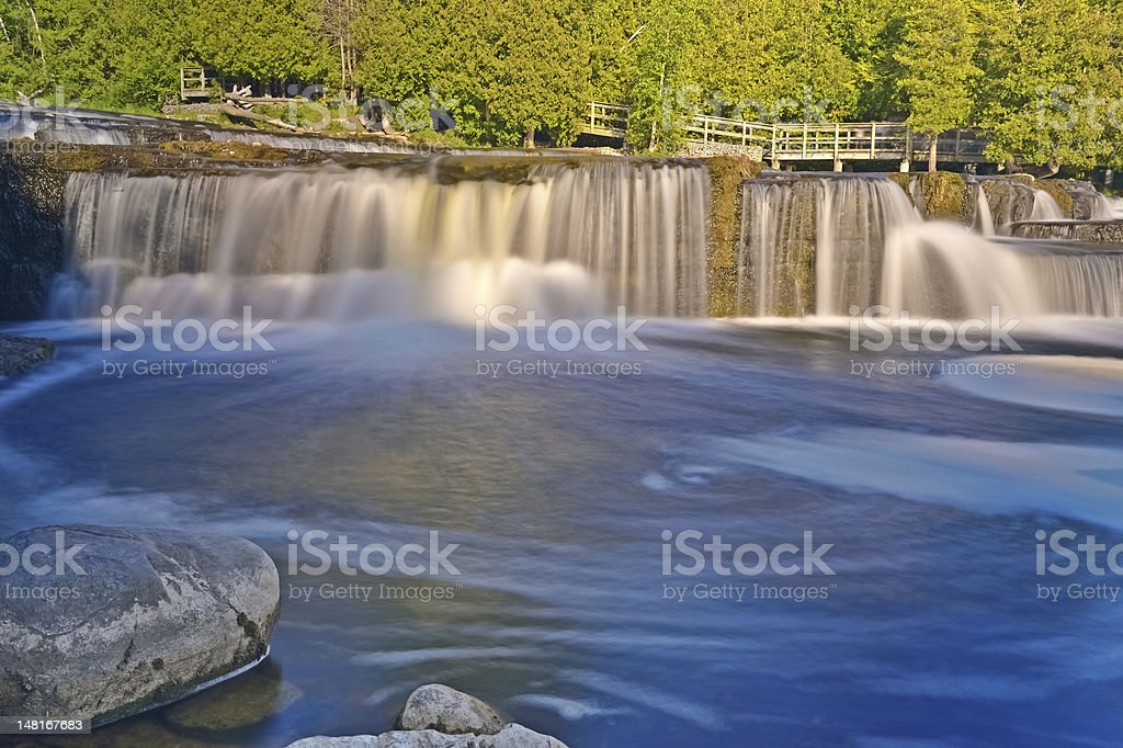 Sauble Falls in South Bruce Peninsula, Ontario, Canada royalty-free stock photo