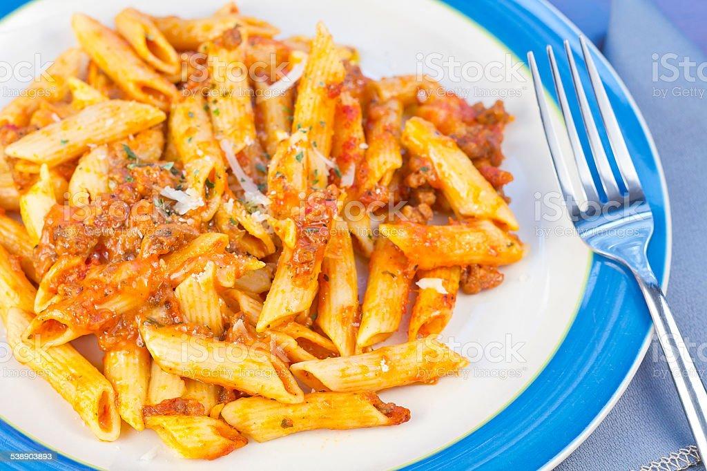 Sauce and Pasta stock photo