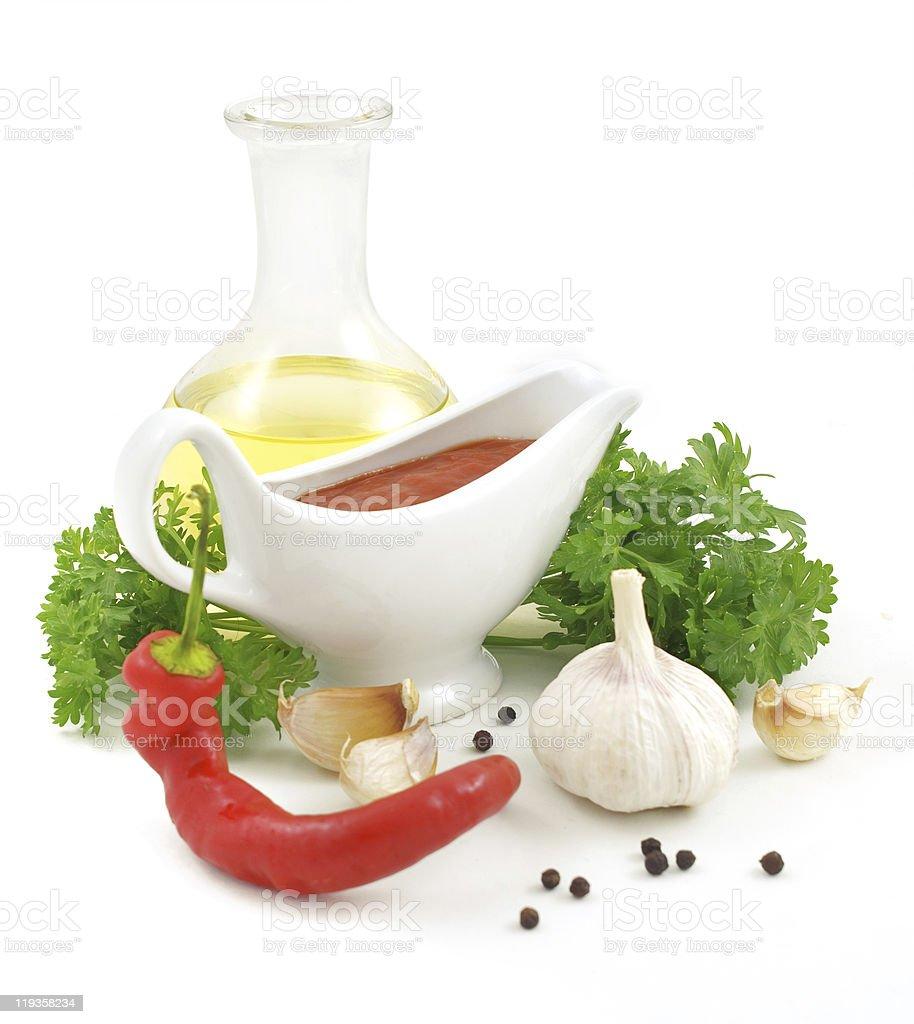 Sauce ingredients royalty-free stock photo