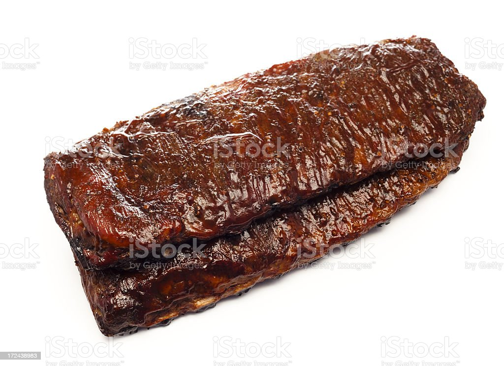 Sauced BBQ Ribs royalty-free stock photo