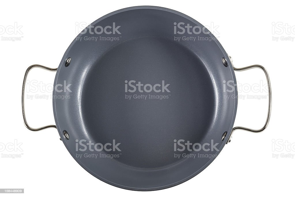 saucepan isolated, top view royalty-free stock photo