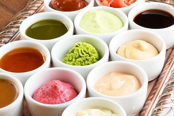 saucen-kollektion - sauce bernaise stock-fotos und bilder