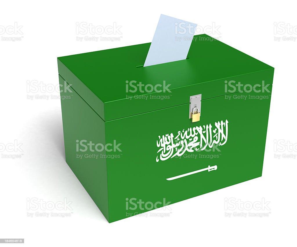 Saudi Arabia Flag Ballot Box royalty-free stock photo