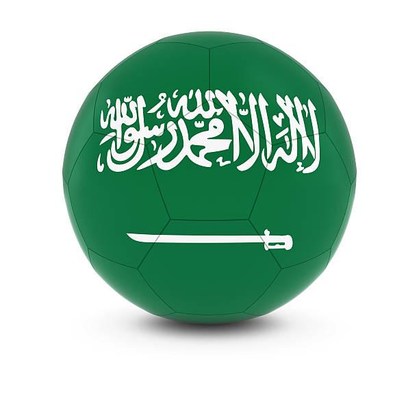Cтоковое фото Саудовская Аравия футбол-Saudi Арабский Флаг на футбольном мяче