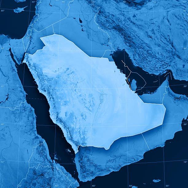 saudi arabia topographic map - saudi arabia map stock photos and pictures