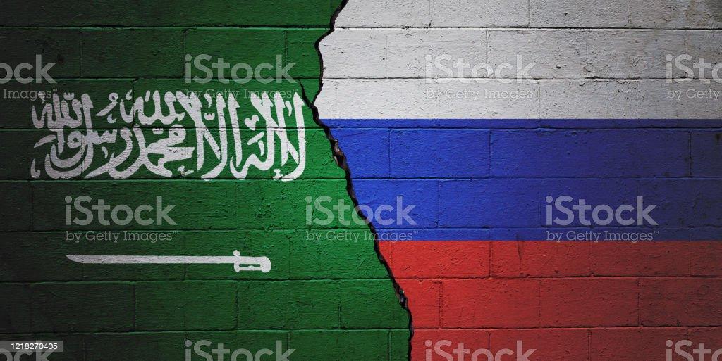 Saudi Arabia vs Russia - Royalty-free Agreement Stock Photo