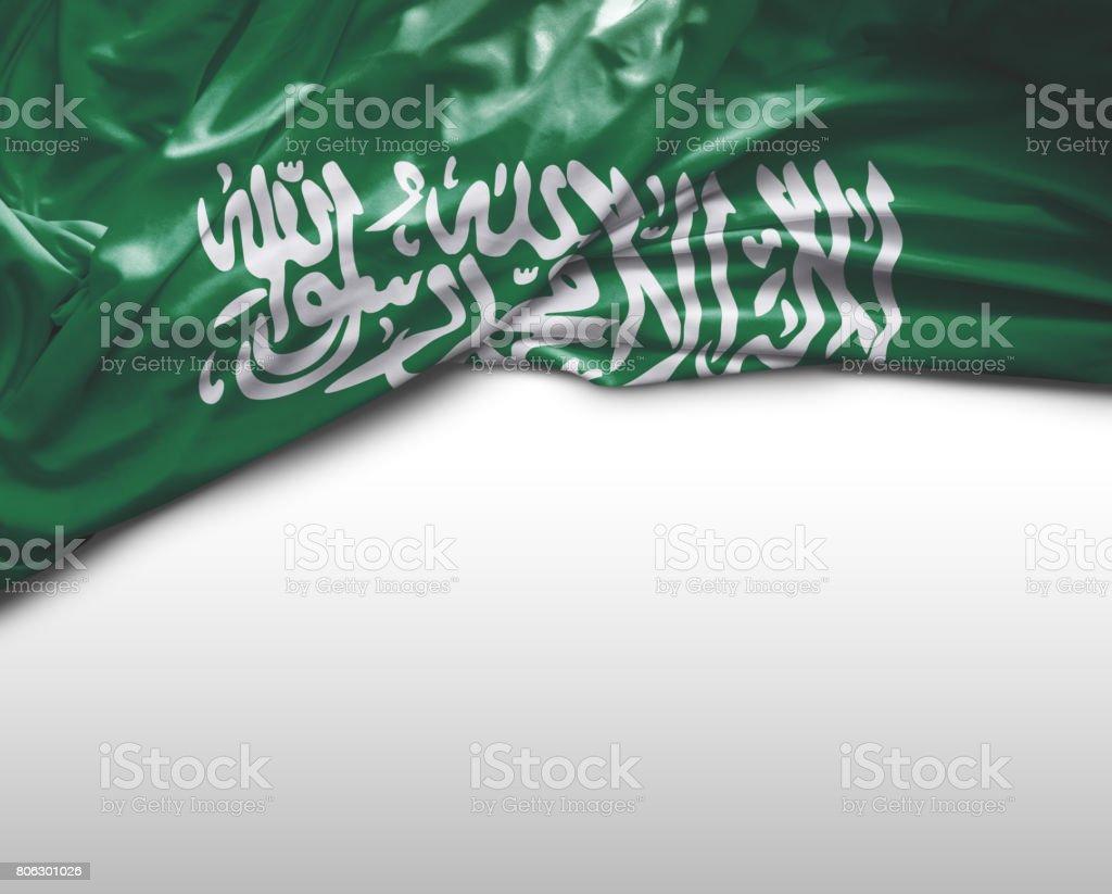 Saudi Arabia waving flag stock photo