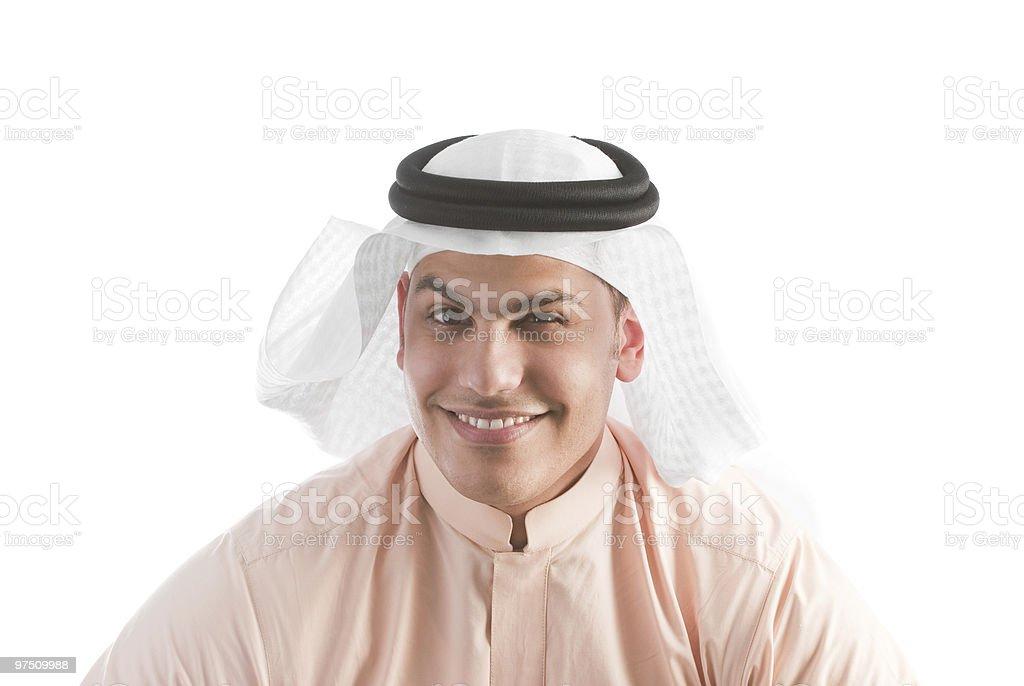 Saudi Arabian male royalty-free stock photo