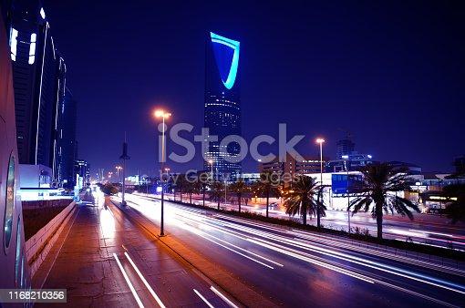 Saudi Arabia-Riyadh-King Fah0ad Road At Night Photography