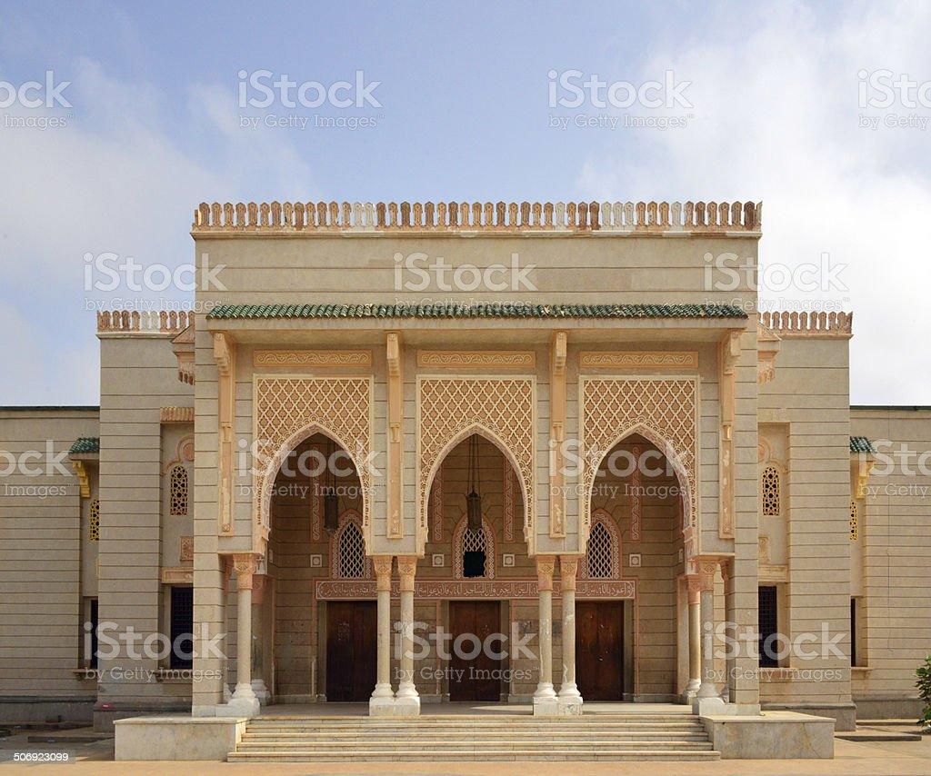 Saudi Mosque entrance, Nouakchott, Mauritania stock photo