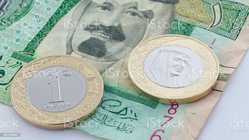 Saudi Riyal Neue Münze Mit König Salman Vs Alte Banknote Mit