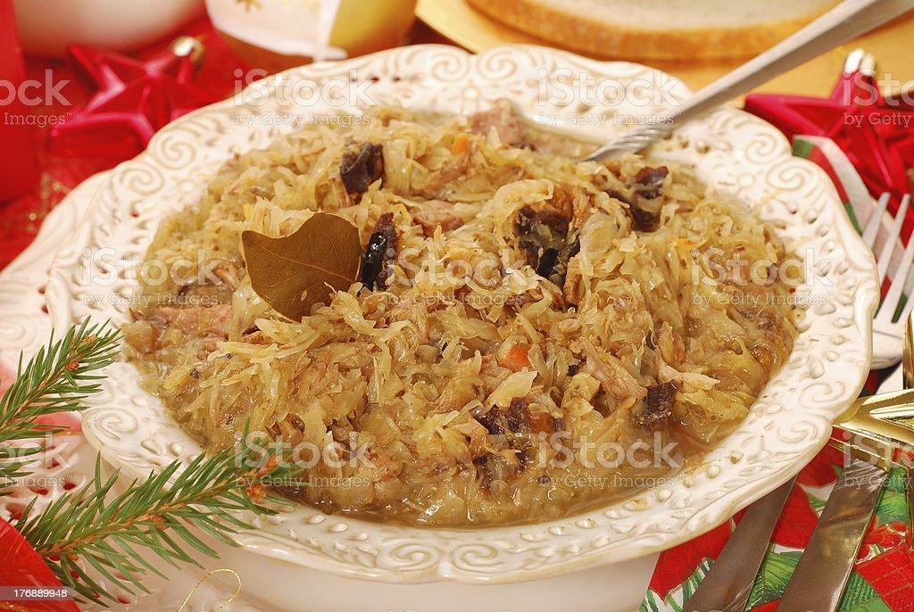sauerkraut for christmas royalty-free stock photo