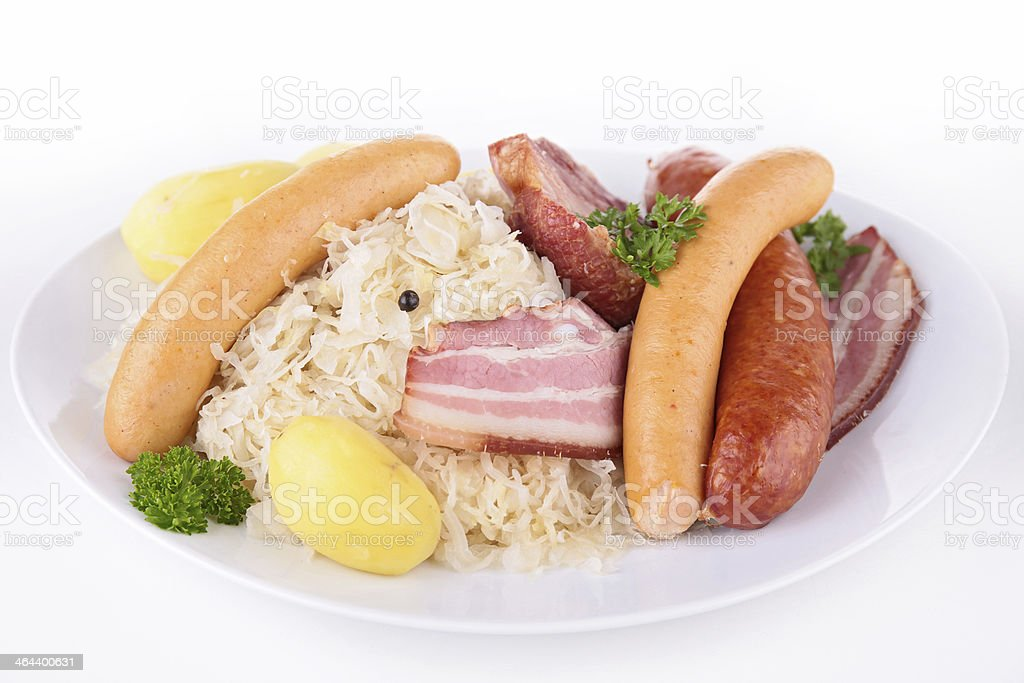 sauerkraut isolated stock photo